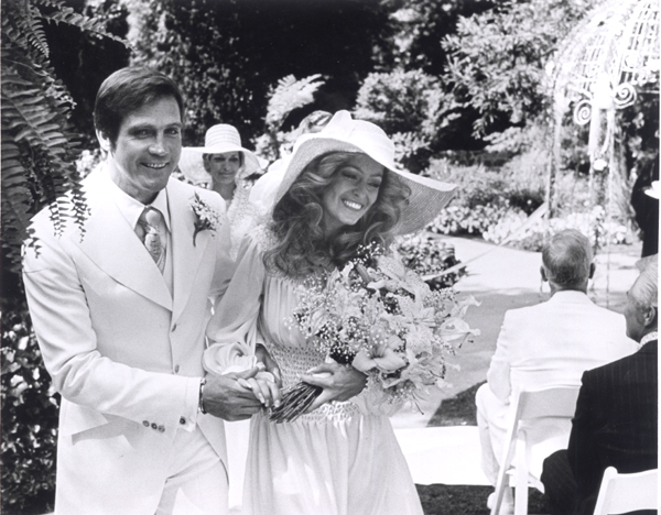 Lee Majors and Farrah Fawcett wedding