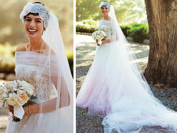 Anne hathaways wedding dress farah novias junglespirit Gallery