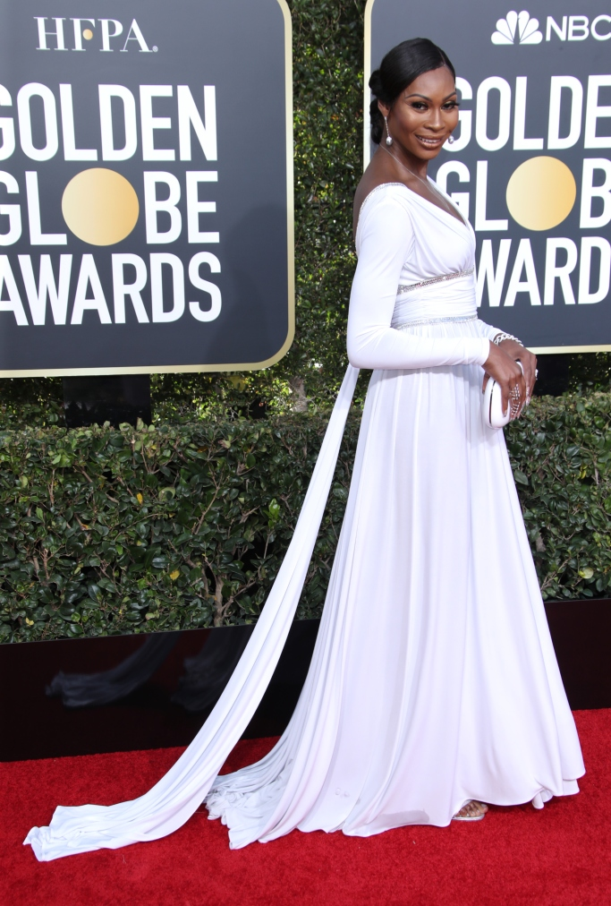 Dominique T.A.R Jackson in Marc Bouwer Golden Globes 2019