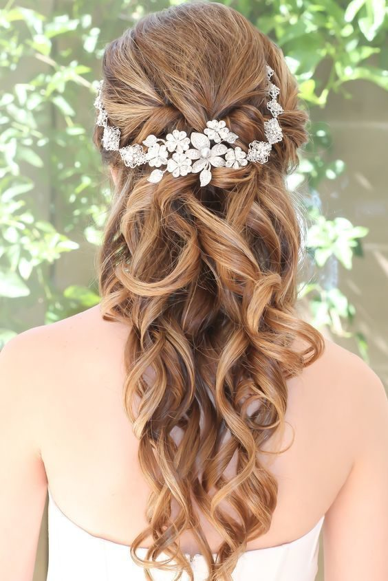 Pulled Back bridal Hairstyle