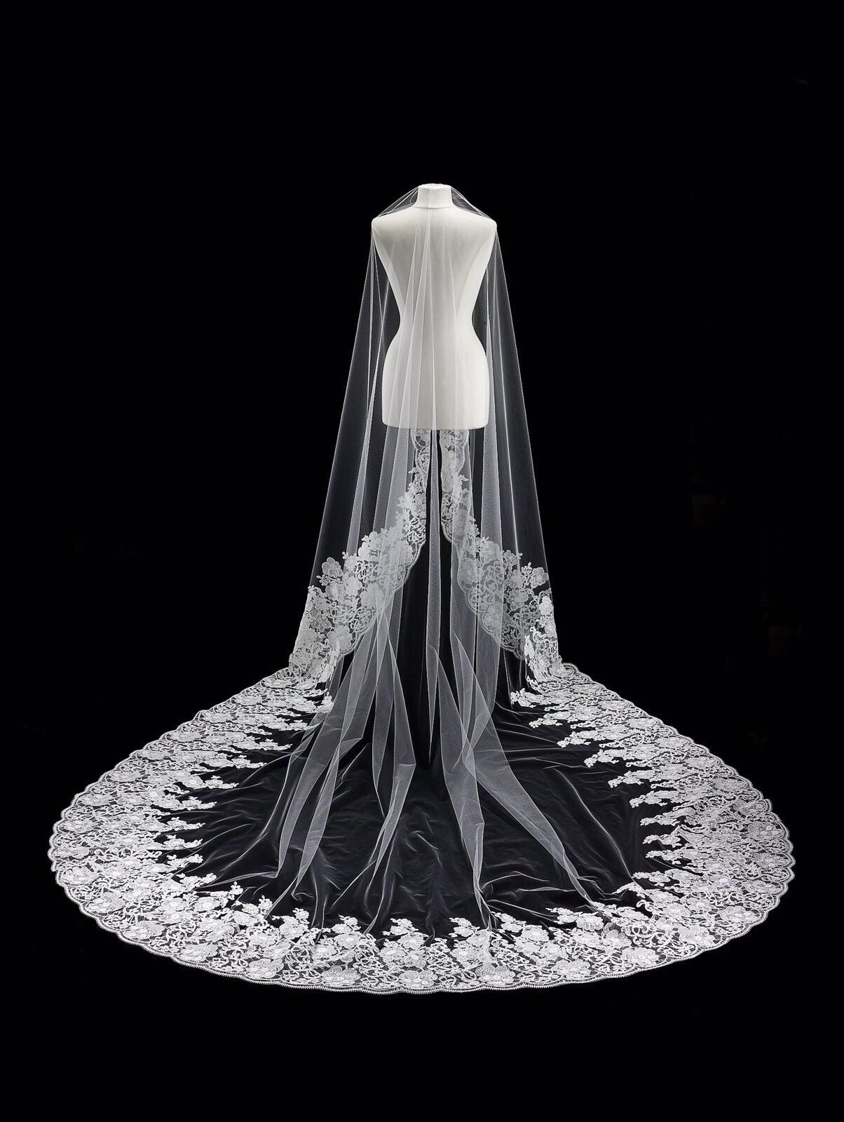 Homa Bridal, Velo Mantilla de Encaje