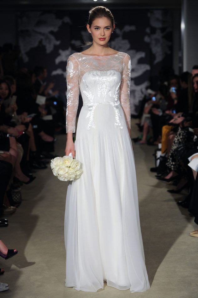 Carolina herrera spring 2015 bridal collection farah novias herreras wedding gowns are for the classic bride who makes no excuse for wanting to look and feel like a princess on her wedding day junglespirit Choice Image