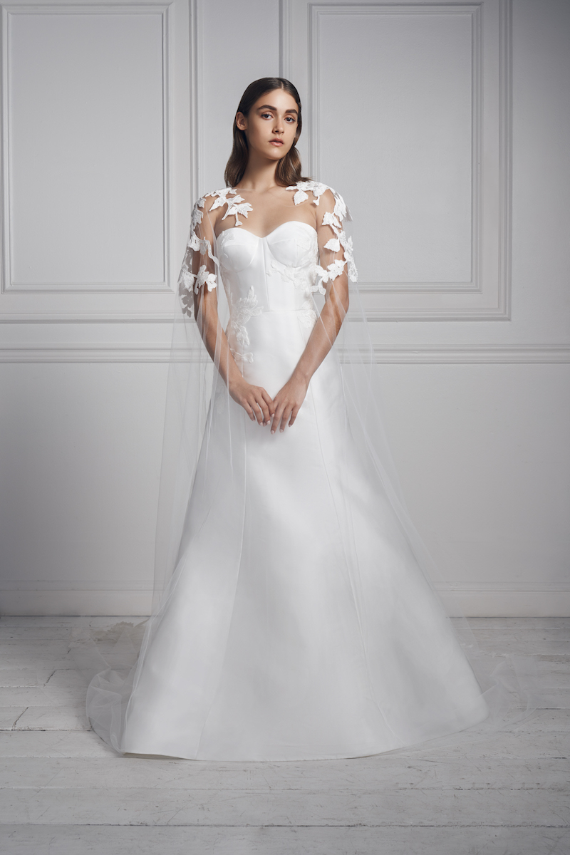 Anne Barge bridal fall 2020 cosmopolitan cape