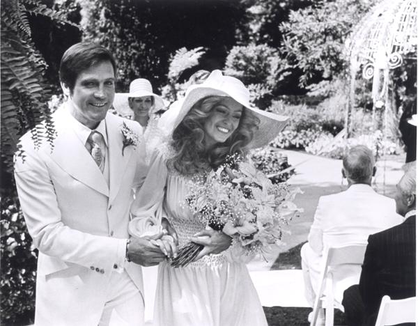Lee Majors and Farrah Fawcett wedding