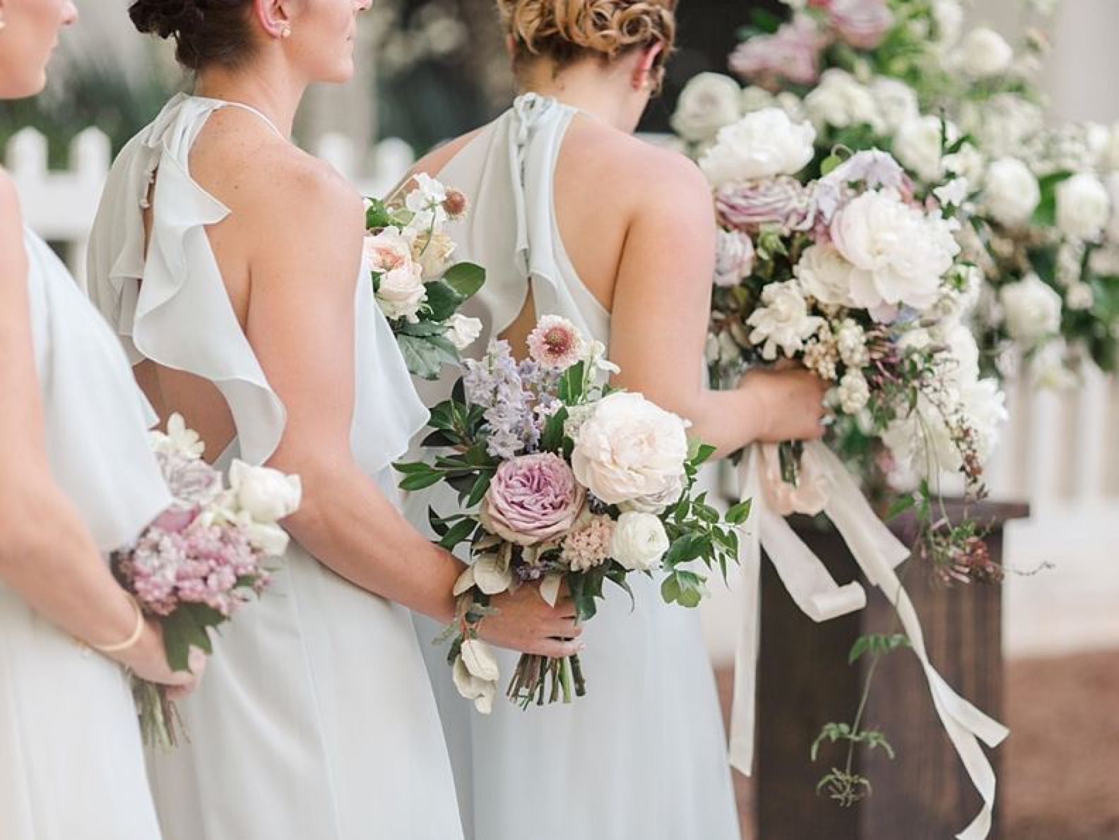 Romantic Bridesmaids Bouquets