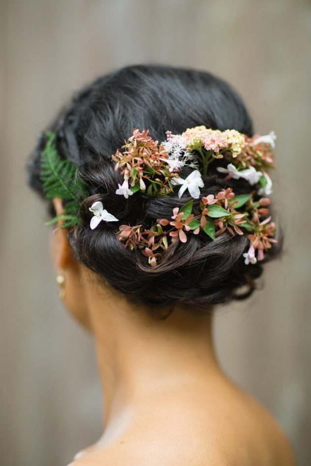Relaxed Bun Bridal Hairstyle
