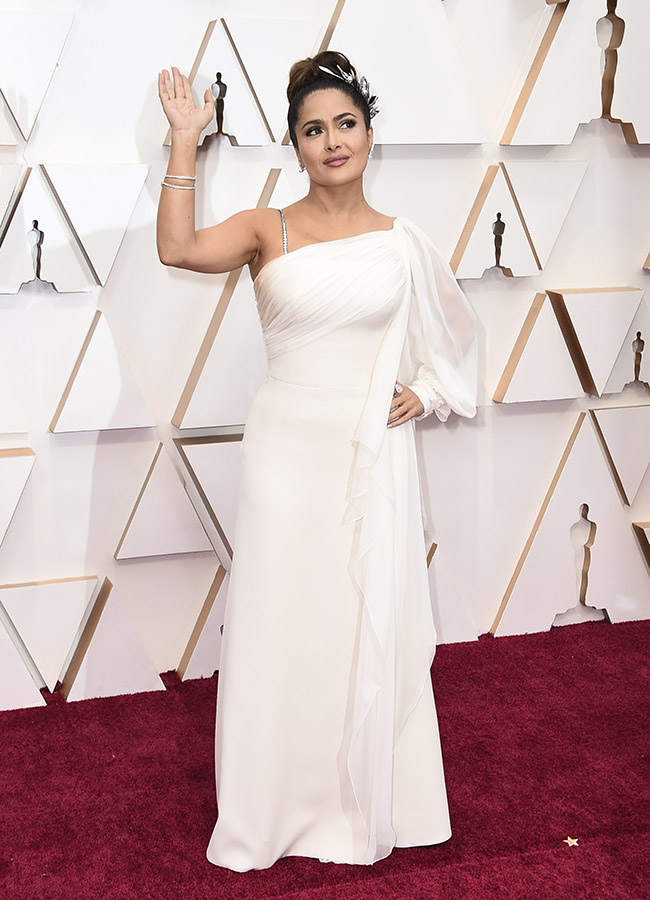 Salma Hayek - Gucci dress-oscars red carpet 2020