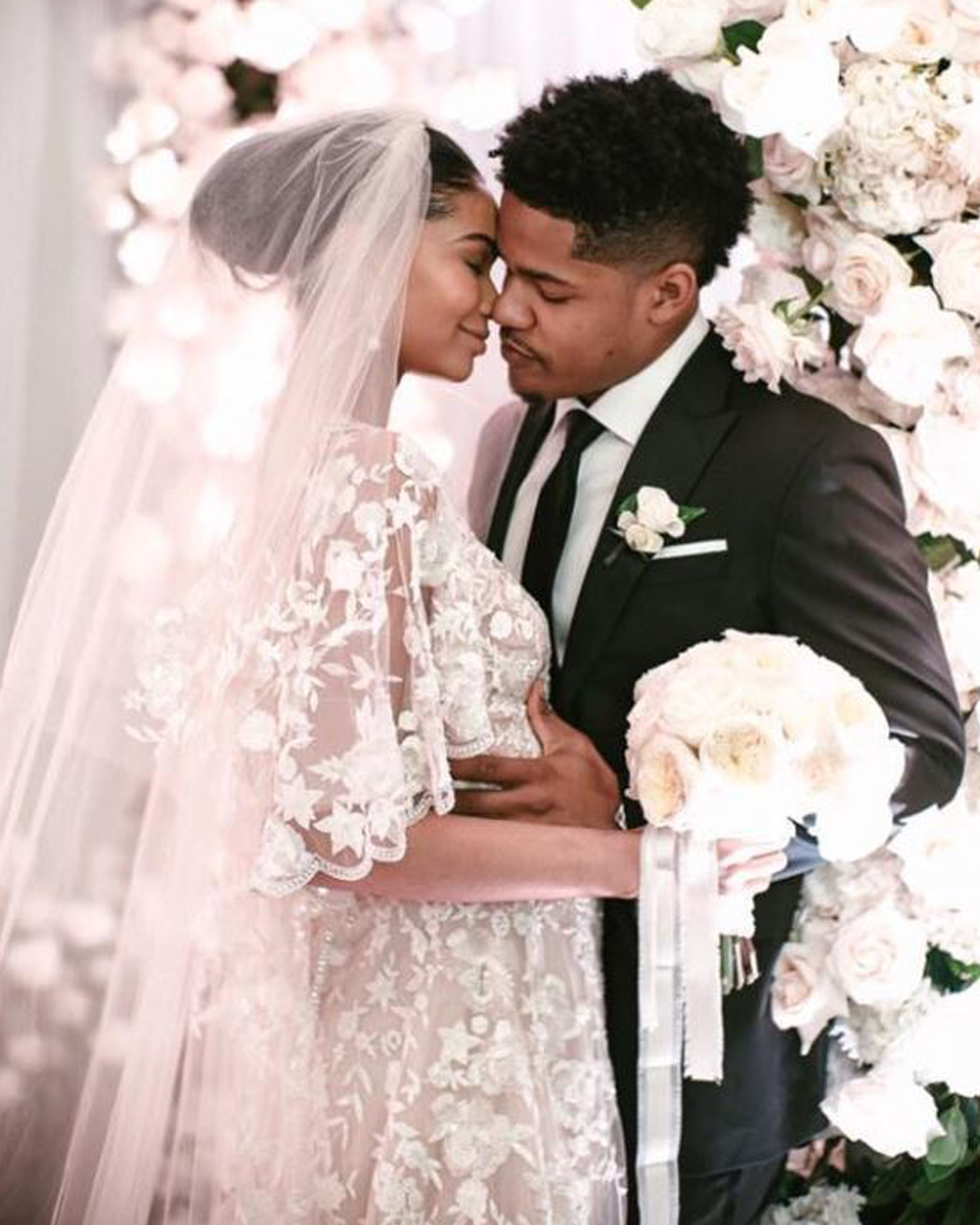Chanel Iman Wedding Dress Zuhir Murad