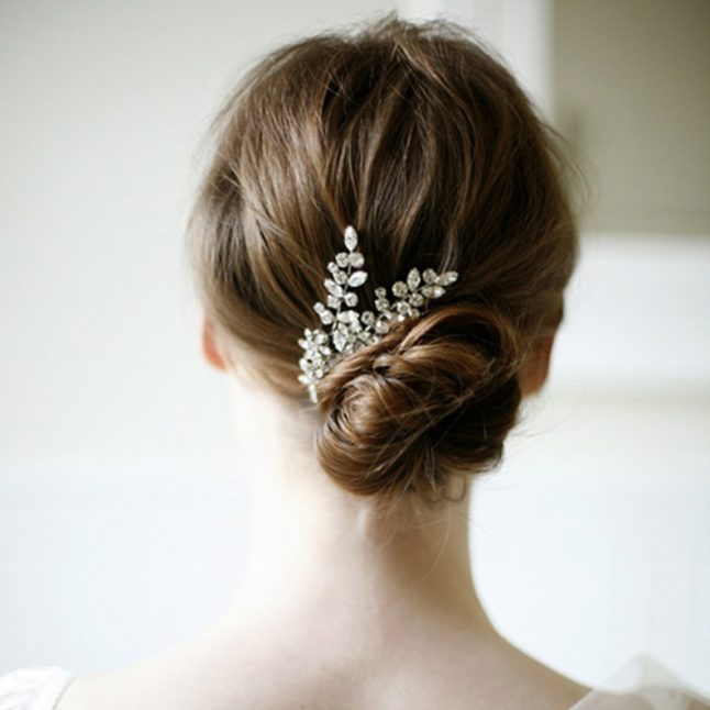Low Chignon Bridal Hairstyle