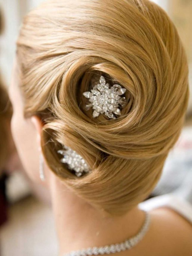 French Twist Bridal Hairstyle
