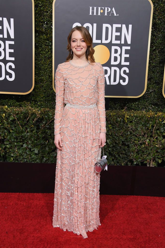 Emma Stone en Louis Vuitton Golden Globes 2019