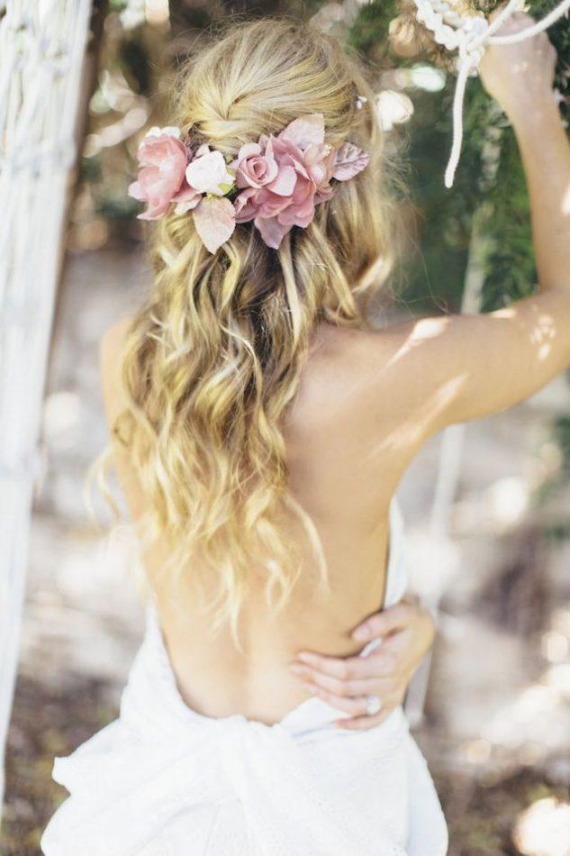 Peinado Novia Ondulado largo