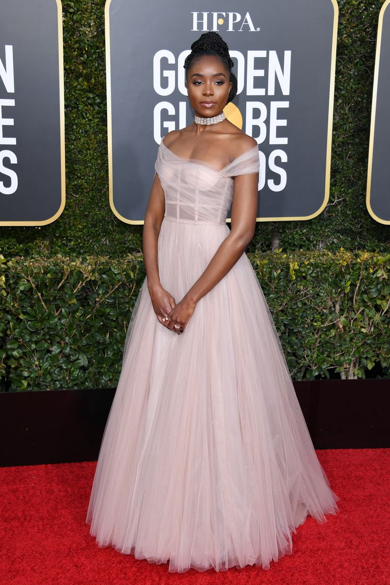 Kiki Layne in Dior Golden Globes 2019