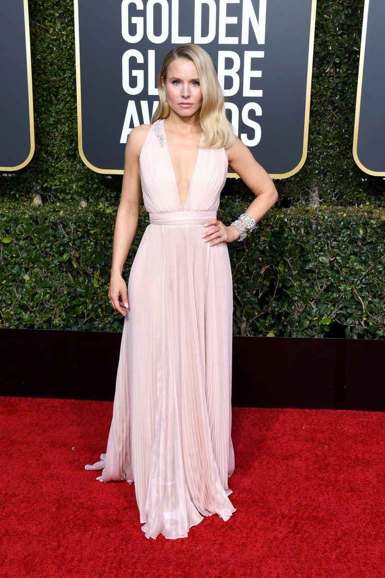 Kristen Bell in Zuhair Murad Golden Globes 2019
