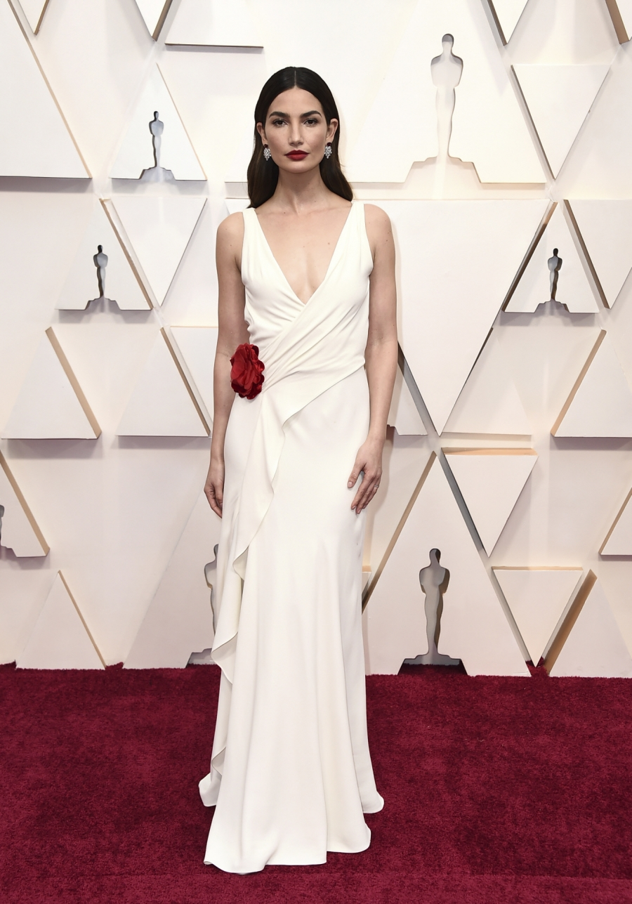 Lily Aldridge- Ralph Lauren- Oscars red carpet 2020