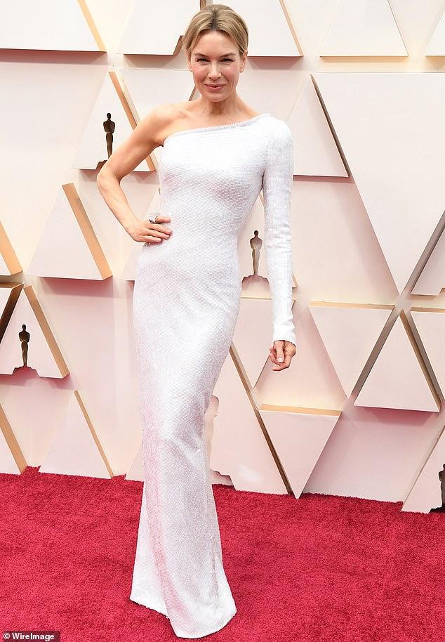 Rene Zellweger in Armani Prive Oscars 2020
