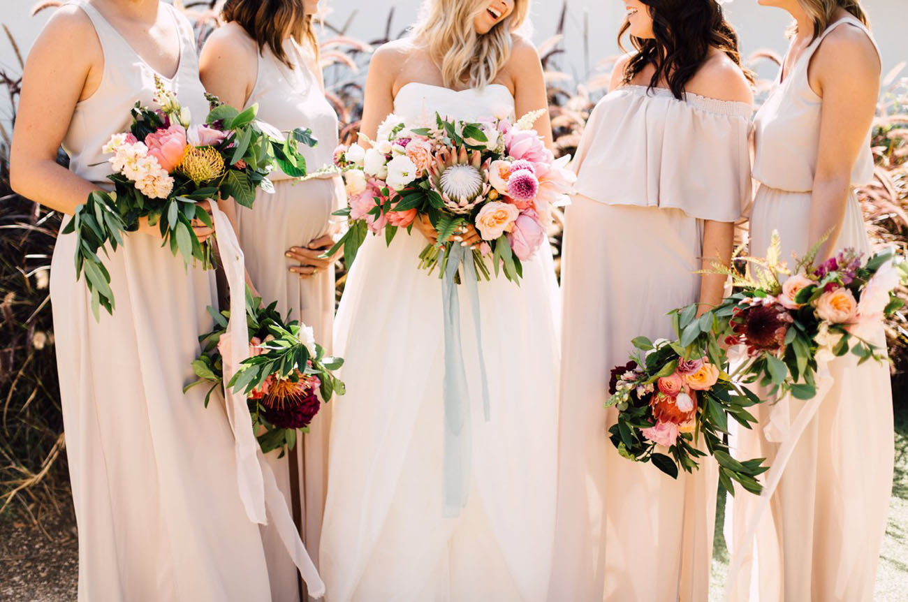 Tropical Style Bridesmaids Bouquets